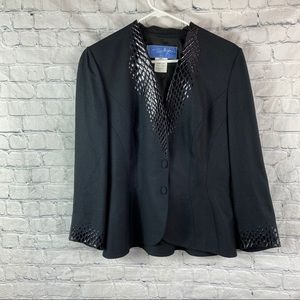 Vintage Thierry Muglar Paris Black 2 Button Blazer